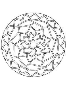 Mandalas para NOVATOS : 46 desenhos para colorir de graça & folhas