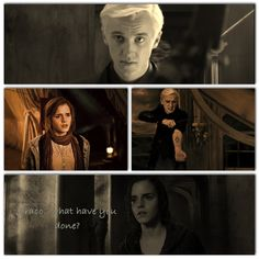 Don't get me wrong, in real life, I totally ship Harry and Hermione.but seriously, I still wish -Dramione- had happened. Always Harry Potter, Harry Potter Universal, Harry Potter Movies, Draco And Hermione, Hermione Granger, Draco Malfoy, Dramione, Drarry, Scorpius Rose