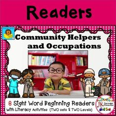 These 8 Handy Dandy Community Helpers Beginning Readers target key sight and high frequency words. All eight books come with engaging printable activities in B/W. They feature these community helpers & occupations: *artist *baker *builder *dentist *diver *driver *farmer *firefighter *gardener *mechanic *nurse *painter *pilot *police officer *teacher *writer *vet