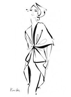 Fashion illustration - elegant fashion sketch // Kerrie Hess