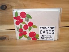 Holly Holiday Note Card by Studio 513 $6.00