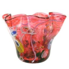 Ruby Small Art Glass Bowl by Paul Counts