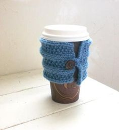 Coffee Sweater in Blue by StitchyImpressions on Etsy, $10.00