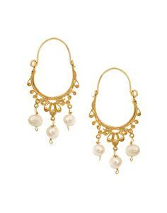 Imagen 1 de Pendientes de aro con perlas de Ottoman Hands