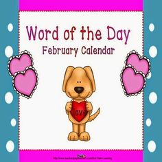 This calendar  incorporates both Math and ELA. Each day has a February vocabulary word in addition to a pattern. We've also included a teacher guide for activities to do with our calendar. Included: -Full size ELA calendar -Grayscale calendar for kiddos -Daily calendar sheet for notebooks -Definition sheet for all the vocabulary words -Teacher guide with ideas for calendars. $