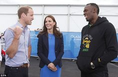 Kate Middleton Photos - (L-R) Prince William, Duke of Cambridge and Catherine, Duchess of Cambridge meet Usain Bolt during a visit to the Commonwealth Games Village on July 2014 in Glasgow, Scotland. - Arrivals at the Commonwealth Games