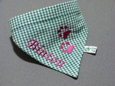 Weiteres - Kariertes Hundehalstuch mit Wunschnamen - ein Designerstück von Taeschli-und-co bei DaWanda