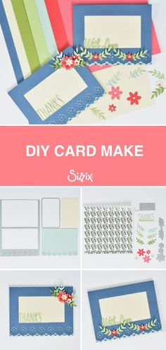 This card make using the Sizzix Lace Card Base Thinlits set is the perfect way to celebrate any special occasion! 💌 Whether it's for a special Birthday or just to send love and thanks, this make is sure to impress! 🥰 Click the link for a step-by-step guide to creating this beautiful card! #sizzix #mymakingstory #cardideas #papercraft #craft Love Cards, Diy Cards, Butterflies In My Stomach, Special Birthday, Cardmaking, Special Occasion, Thankful, Paper Crafts, Step Guide