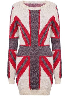 Jersey largo Union Jack metal-Rojo EUR€30.16