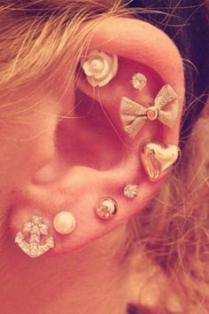 Lots of ear peircings..  love every one!