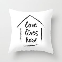 Throw Pillow, decorative pillow, black and white, home quote, pillowcase, pillow cover, quote art, pink pillow, quote pillow, graphic pillow on Etsy, $25.00 CAD