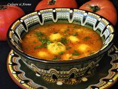 Supa de rosii cu galuste de malai – Culoare si Arome Vegan Soups, Vegetarian Recipes, Healthy Recipes, Baby Food Recipes, Cooking Recipes, Artisan Food, Romanian Food, Tasty, Yummy Food