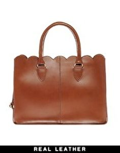 ASOS Leather Scallop Edge Shopper, AKA my favorite bag.... ever. Great for spring, summer & fall. Love.