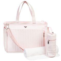 Pale Pink 3 Piece Baby Changing Bag Set (44cm), Armani, Girl
