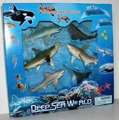 Amazon.com: Dangerous Sharks of the World 6-pack toy figure shark set: Toys & Games