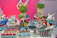 Alice in wonderland sweets table