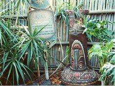 Ngendei - tiki room gods in DL courtyard