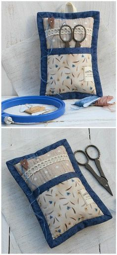 #Pincushion #ScissorsKepper #NeedlePillow #SewingAccessory