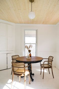 I really want to find some old ugly chairs to redo and give the kitchen some character.