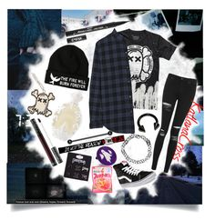 """""""""""Now you're just a memory. In my past is where you'll stay"""""""" by katlanacross ❤ liked on Polyvore featuring Topshop, Vans, Current/Elliott, Kat Von D and Hot Topic"""