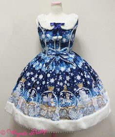 Angelic Pretty Sugar Dream Dome Collar JSK /// ¥28,944 /// Bust: 90~100 cm Waist: 70~94.5 cm Length: 90 cm