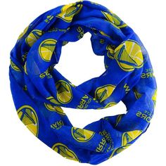 Forever Collectibles Golden State Warriors All Over Logo Infinity Wrap... ($25) ❤ liked on Polyvore featuring accessories, scarves, royalblue, infinity circle scarf, infinity loop scarves, circle scarf, infinity loop scarf and tube scarves