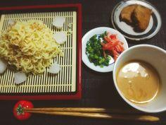 Yumi103's dish photo 冷やしつけ麺  醤油とんこつ | http://snapdish.co #SnapDish #お昼ご飯 #ラーメン #福岡の料理