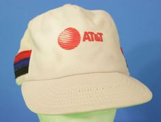Att Snapback Cap Hat Adjustable Red White Blue One Size College USA Made Stripes #P #Snapback