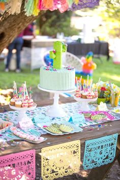 Cakescape + sweets from a Cactus Fiesta Baby Shower on Kara's Party Ideas | KarasPartyIdeas.com (31)