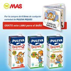 Con la compra de 6 litros de Puleva Peques, ¡de regalo un libro para el baño! Promo hasta el 31 de diciembre! #niños #padres #oferta #regalo