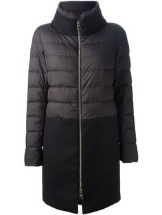 Herno Quilted And Wool Panel Coat - Eraldo - Farfetch.com