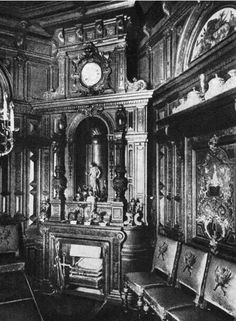 Grand Duke Sergei Alexandrovich's private study on the ground floor of the Sergeievsky Palace. In the popular Renaissance Revival style, the Grand Duke worked on many of his charitable activities including the creation of the Imperial Orthodox Palestine Society of which he and Grand Duchess Elizabeth Feodorovna were patrons.