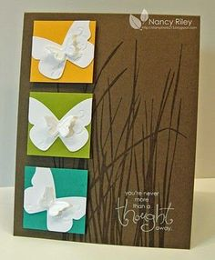 handmade beautiful butterfly wings DIY card