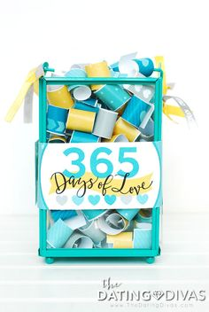 Romantic DIY Gift for husband or boyfriend- give him 365 Days of Love! Printable download by The Dating Divas