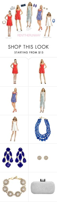 """""""Rent The Runway 4th of July Promotion"""" by renttherunway ❤ liked on Polyvore featuring Nanette Lepore, Shoshanna, Milly, Twelfth Street by Cynthia Vincent, Z Spoke by Zac Posen, Kate Spade, Lee Angel Jewelry, Nicole Miller, Halston Heritage and Lilly Pulitzer"""