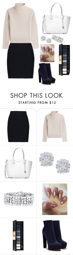 """""""Classy"""" by mayadm20 ❤ liked on Polyvore featuring Helmut Lang, Vanessa Seward, Michael Kors, Effy Jewelry and Casadei"""