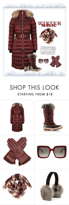 """""""Winter Magic"""" by patricia-dimmick ❤ liked on Polyvore featuring Burberry, SOREL, Reiss, STELLA McCARTNEY, Surell, wintercoat, winterboots and puffercoats"""
