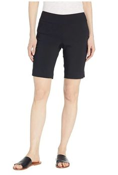 Pull On Short - More Colors Available – Ginger Howard Selections Bermuda Shorts, Slim, Control Panel, Larry, Rest, Smooth, Construction, Silhouette, Spandex