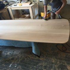 Richard Watson custom dining table in progress