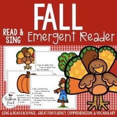 "This Fall Early Reader is super unique to other readers...you not only read each page, you sing it to ""Where Is Thumbkin?"". Students love them! Also a FUN way to practice reading, increase fluency through singing and repetition, and improve vocabulary."