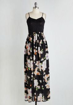 Ready, Steady, Float Dress. Both your gait and mindset take on an air of effortlessness as you strut about in this gorgeous twofer maxi! #multi #modcloth