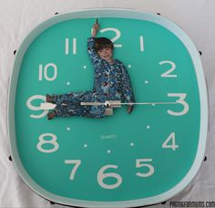 DIY Personalised Clock! How adorable is this!