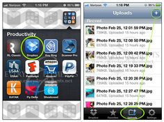 Using Dropbox to upload and share pictures from smart phones via @amandapadgett