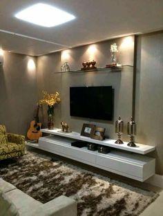 Cozy TV Room Setup Inspirations - The Urban Interior Living Room Tv, Home Living, Dining Room, Ideas Decoracion Salon, Objet Deco Design, Room Setup, Living Room Designs, Bedroom Designs, House Design