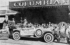"Old fashioned ballyhoo greets the ""Phantom of the Opera"" at the Columbia Theatre, 1014 Beach 20th Street, Far Rockaway, NY. From Exhibitor's Trade Review, February 27, 1926. #NY #Rockaway #cinema #theatre #NewYork #theatretalks Far Rockaway, Rockaway Beach, Local Movies, Old Movies, Classic Horror Movies, Classic Films, Cinema Theatre, Theater, Lon Chaney"