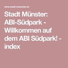 Stadt Münster: ABI-Südpark - Willkommen auf dem ABI Südpark! - index