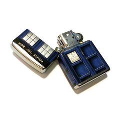 Doctor Who TARDIS Zippo Lighter--want!!
