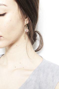 QUARRY, Adelaide Earrings, Rose Quartz |