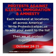 Americans Take To the Streets TODAY to Stop Obama & Amnesty ! http://www.alipac.us/f8/americans-take-streets-today-oppose-obama-amnesty-313424/