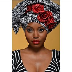 """Head wraps or """"gele"""", are not only culturally correct for African and African-American women, they are also beautiful. Add a pair of earrings, and rock your look with confidence. Geles, work for the office, and for play time. They can be used to dress an outfit up, or worn with casual styles. They are also, easy on the wallet. A few pieces can be mixed and matched to give you several different looks."""